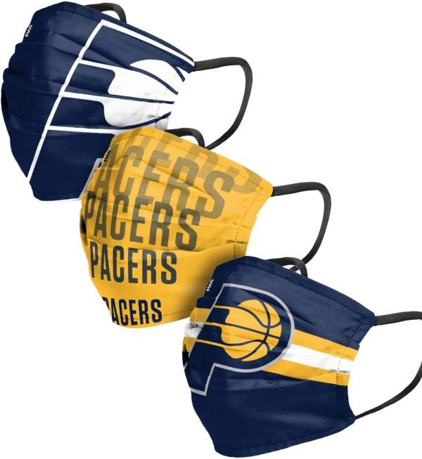 FOCO Adult Indiana Pacers 3-Pack Matchday Face Coverings product image