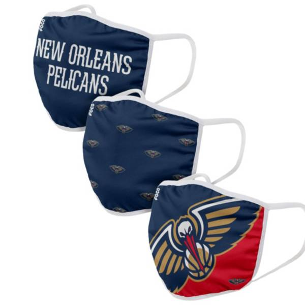 FOCO Adult New Orleans Pelicans 3-Pack Face Coverings product image