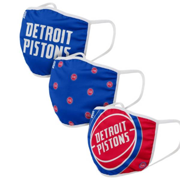 FOCO Adult Detroit Pistons 3-Pack Face Coverings product image