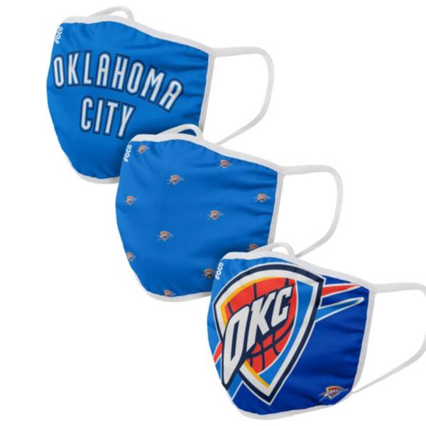 FOCO Adult Oklahoma City Thunder 3-Pack Face Coverings product image