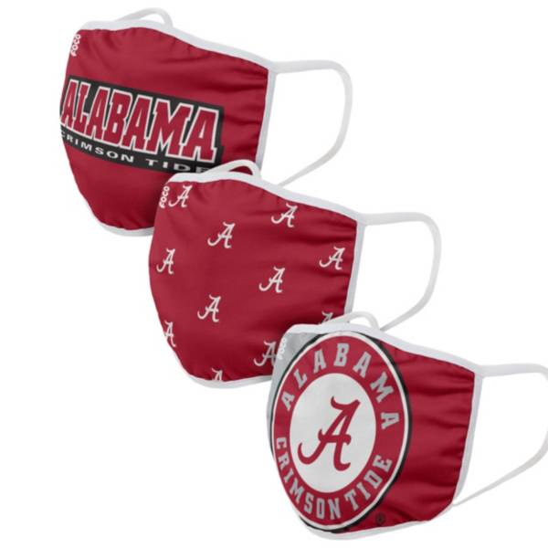FOCO Adult Alabama Crimson Tide 3-Pack Face Coverings product image