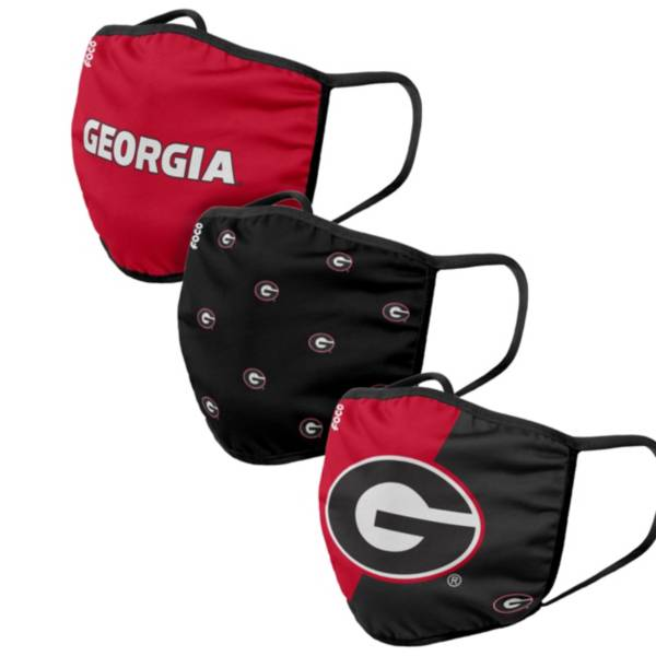 FOCO Adult Georgia Bulldogs 3-Pack Face Coverings product image