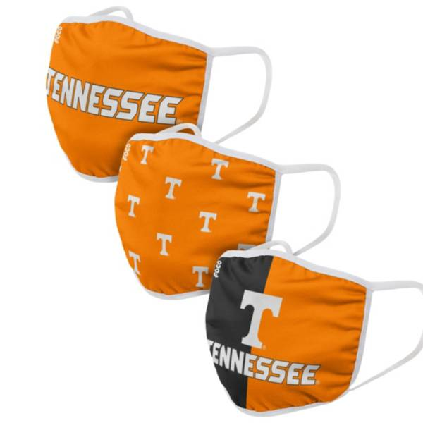 FOCO Adult Tennessee Volunteers 3-Pack Face Masks product image