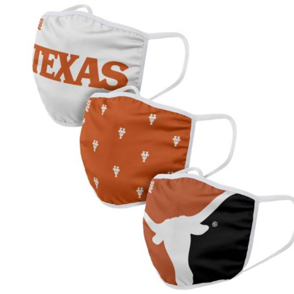 FOCO Adult Texas Longhorns 3-Pack Face Coverings product image