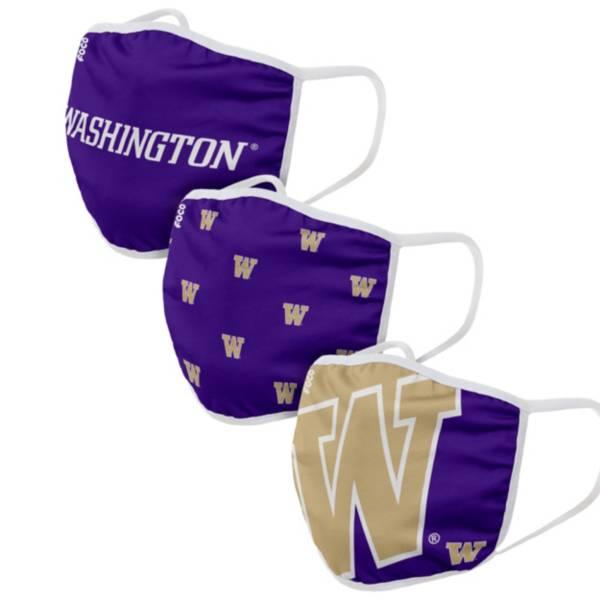 FOCO Adult Washington Huskies 3-Pack Facemasks product image