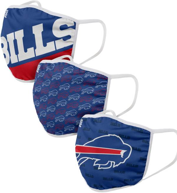 FOCO Adult Buffalo Bills 3-Pack Face Masks product image