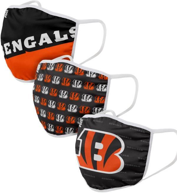FOCO Adult Cincinnati Bengals 3-Pack Face Masks product image