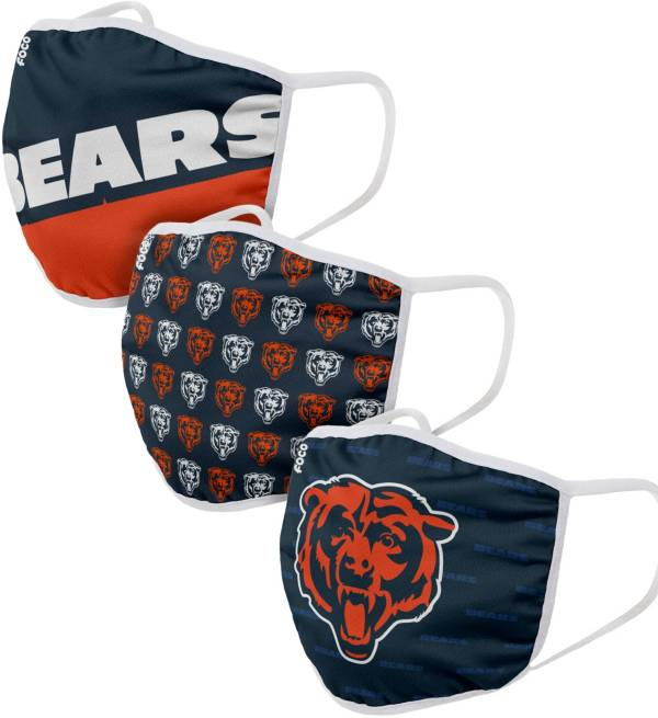 FOCO Adult Chicago Bears 3-Pack Face Masks product image