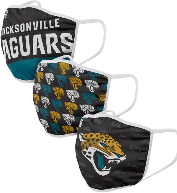 FOCO Adult Jacksonville Jaguars 3-Pack Face Masks product image
