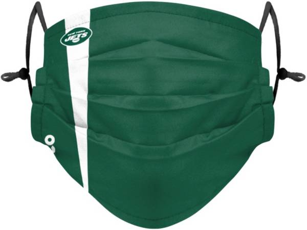 FOCO Adult New York Jets On-Field Sideline Stripe Adjustable Face Covering product image