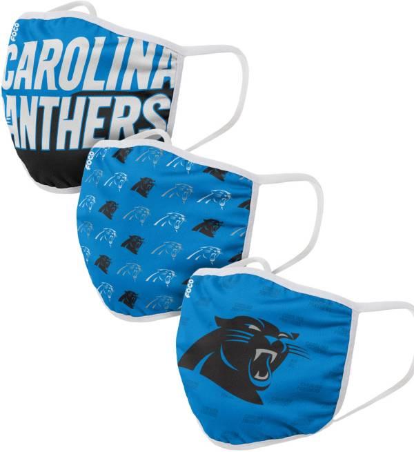 FOCO Adult Carolina Panthers 3-Pack Face Masks product image