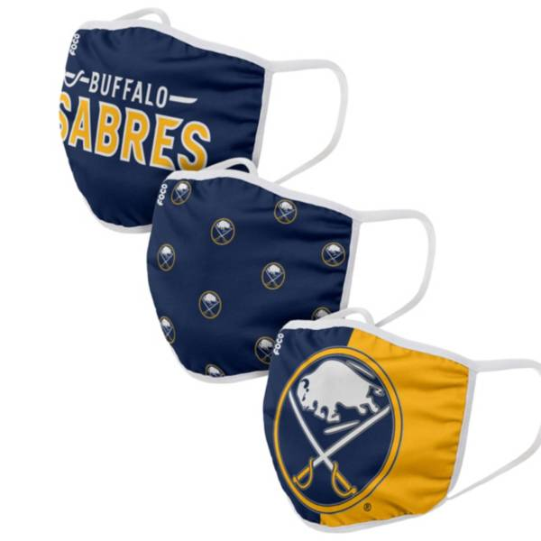 FOCO Adult Buffalo Sabres 3-Pack Facemasks product image