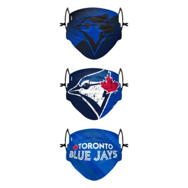 FOCO Youth Toronto Bluejays 3-Pack Face Coverings product image