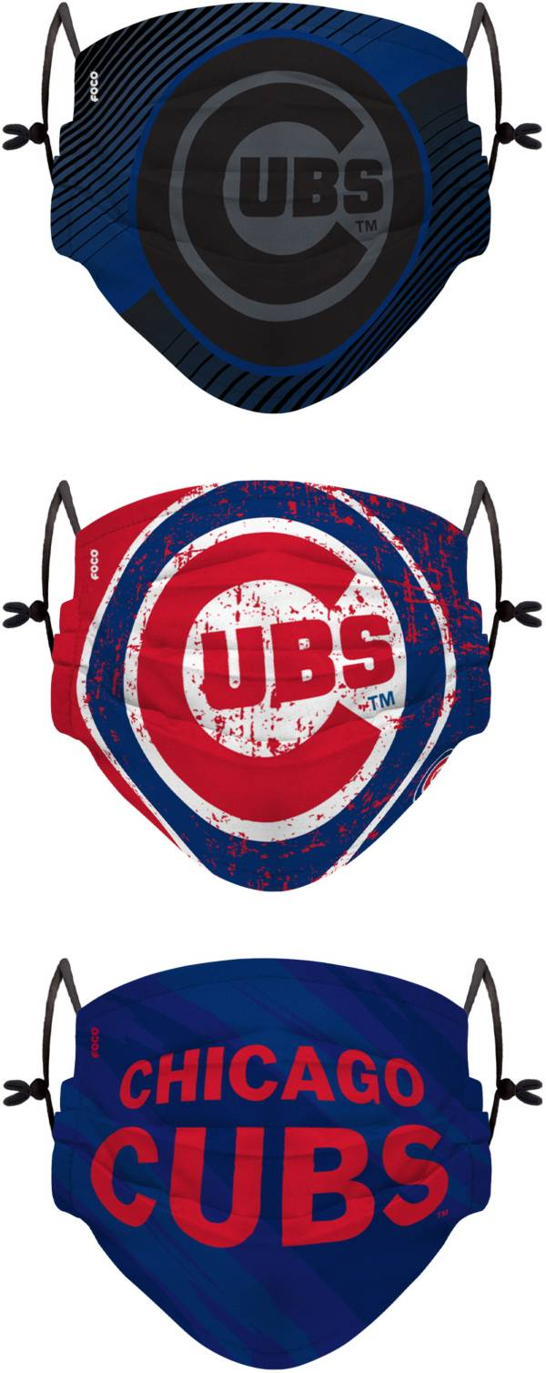 FOCO Youth Chicago Cubs 3-Pack Face Coverings product image