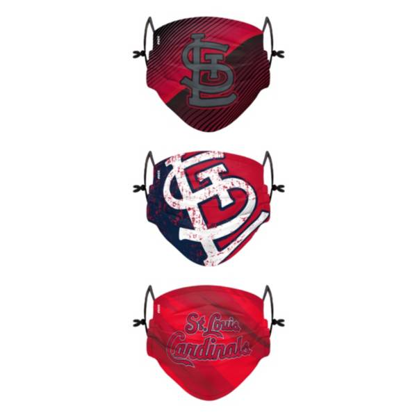 FOCO Youth St. Louis Cardinals 3-Pack Face Coverings product image