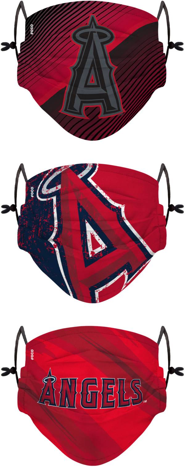 FOCO Youth Los Angeles Angels 3-Pack Face Coverings product image