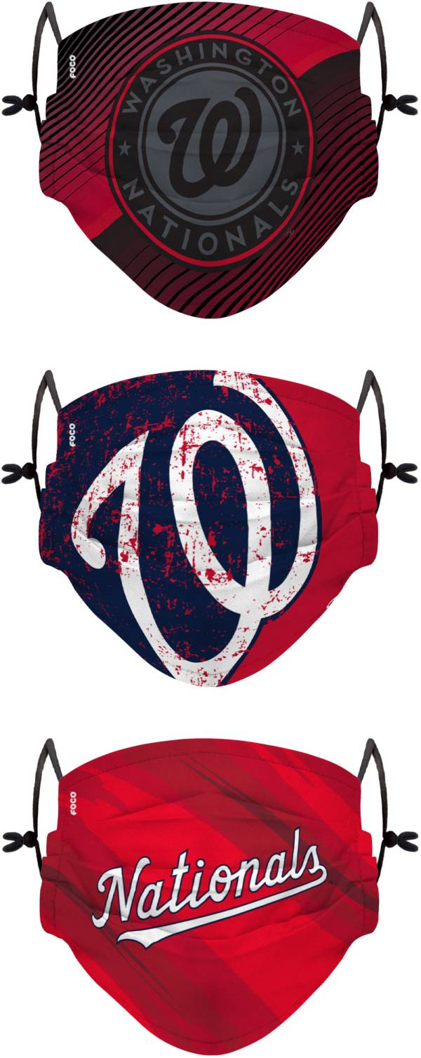 FOCO Youth Washington Nationals 3-Pack Face Coverings product image