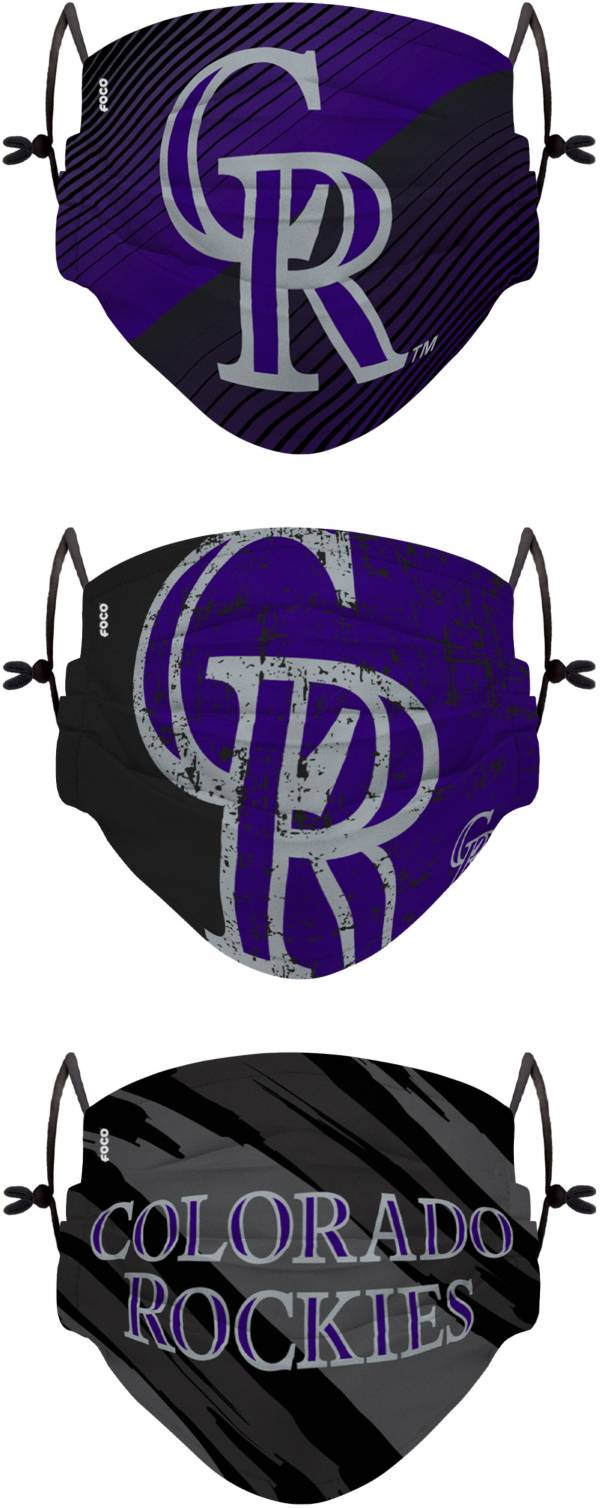 FOCO Youth Colorado Rockies 3-Pack Face Coverings product image