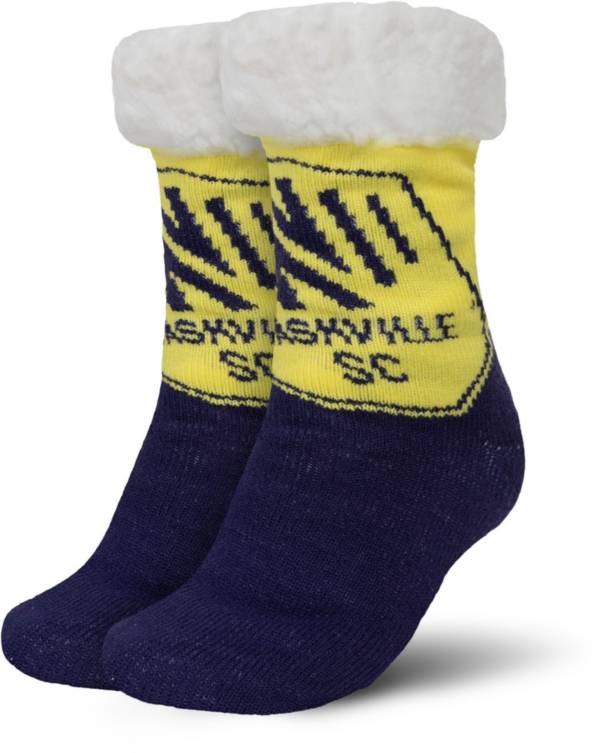 FOCO Nashville SC Cozy Footy Slippers product image