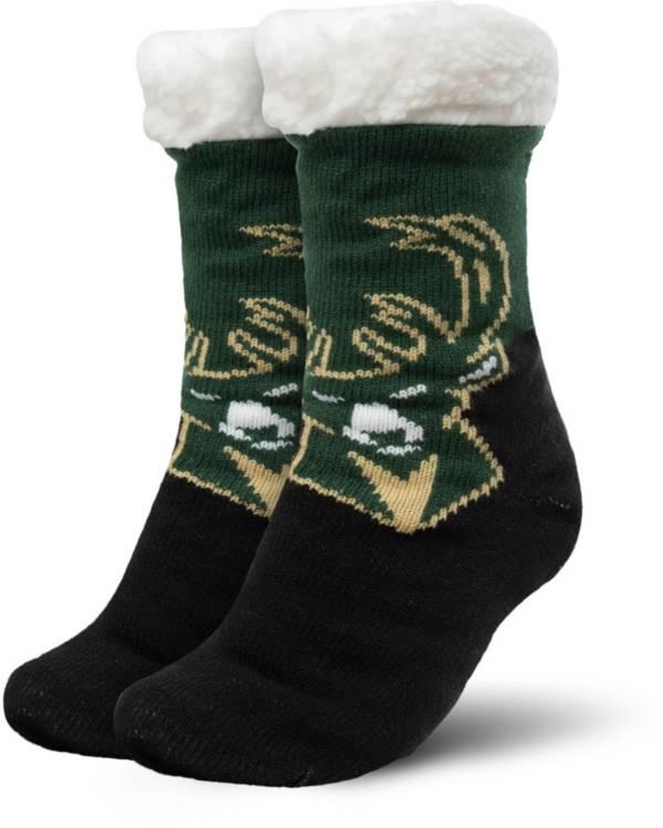 FOCO Milwaukee Bucks Cozy Footy Slippers product image