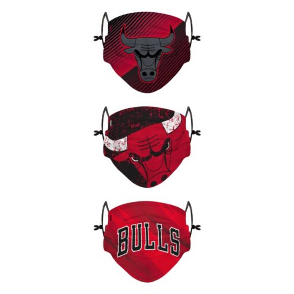 FOCO Youth Chicago Bulls 3-Pack Face Coverings product image