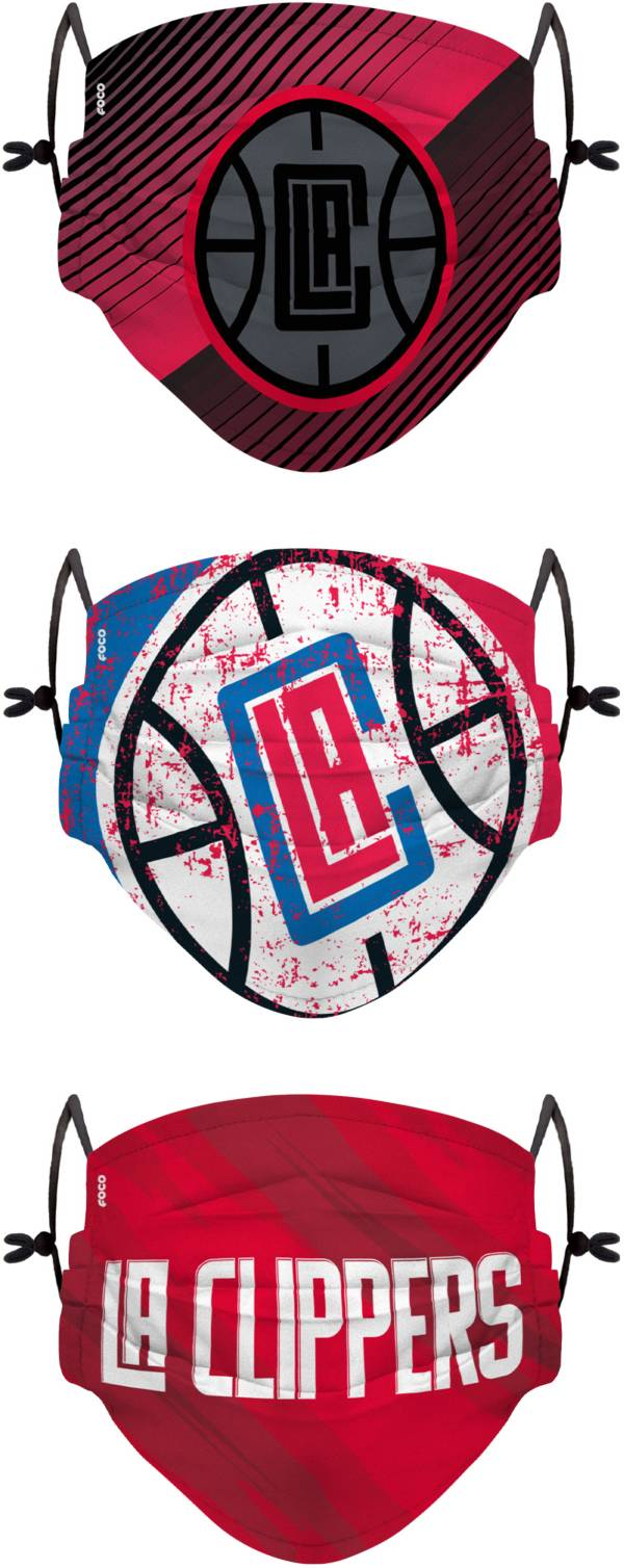 FOCO Adult Los Angeles Clippers 3-Pack Matchday Face Coverings product image