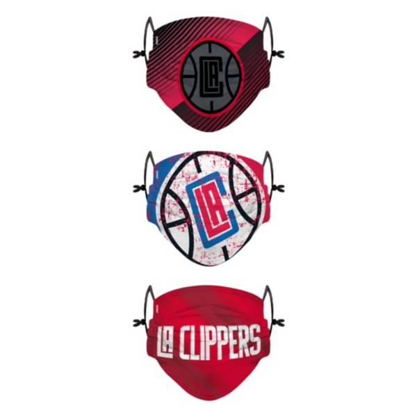 FOCO Youth Los Angeles Clippers 3-Pack Face Coverings product image