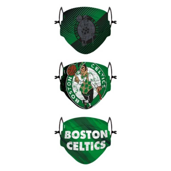 FOCO Youth Boston Celtics 3-Pack Face Coverings product image