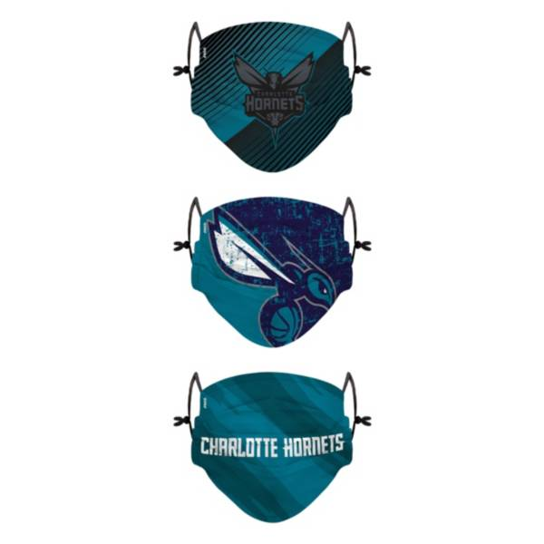 FOCO Youth Charlotte Hornets 3-Pack Face Coverings product image
