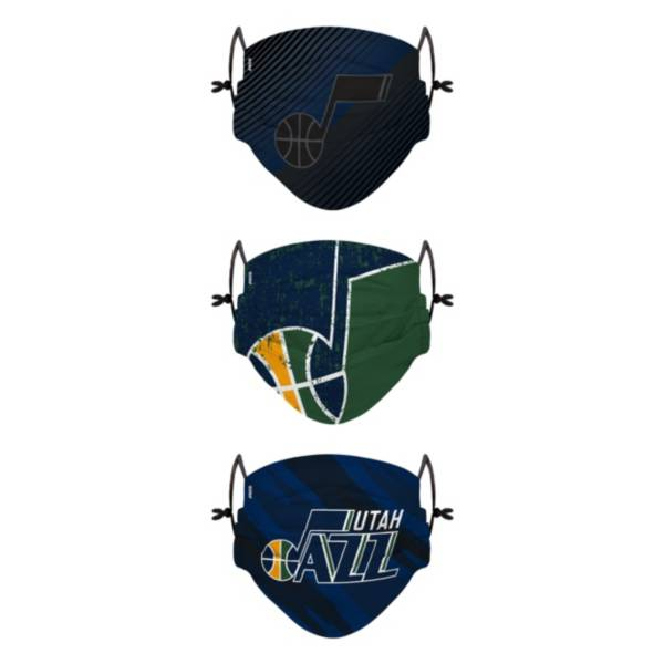 FOCO Youth Utah Jazz 3-Pack Face Coverings product image