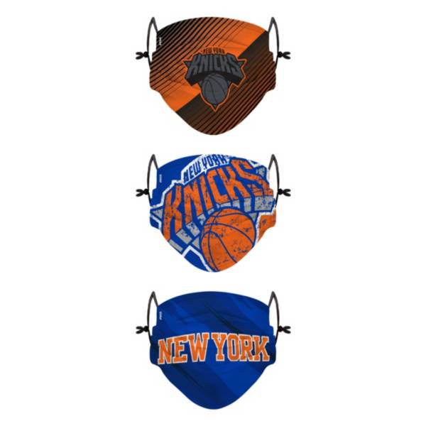 FOCO Youth New York Knicks 3-Pack Face Coverings product image