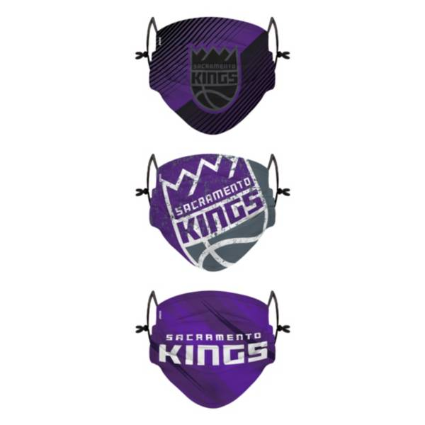 FOCO Youth Sacramento Kings 3-Pack Face Coverings product image