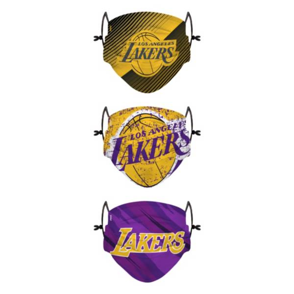 FOCO Youth Los Angeles Lakers 3-Pack Face Coverings product image