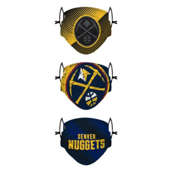 FOCO Youth Denver Nuggets 3-Pack Face Coverings product image