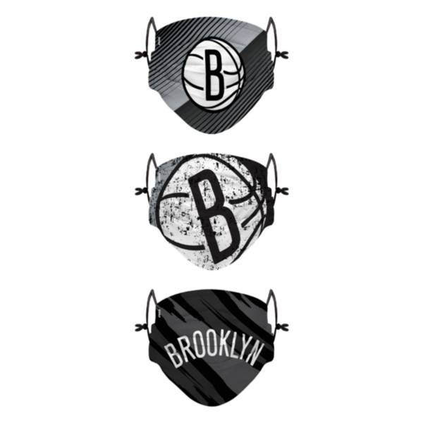 FOCO Youth Brooklyn Nets 3-Pack Face Coverings product image