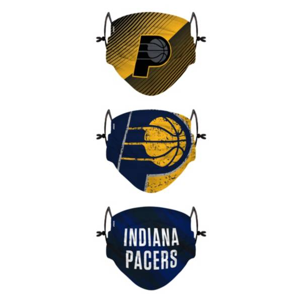 FOCO Youth Indiana Pacers 3-Pack Face Coverings product image