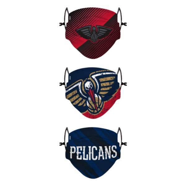FOCO Youth New Orleans Pelicans 3-Pack Face Coverings product image