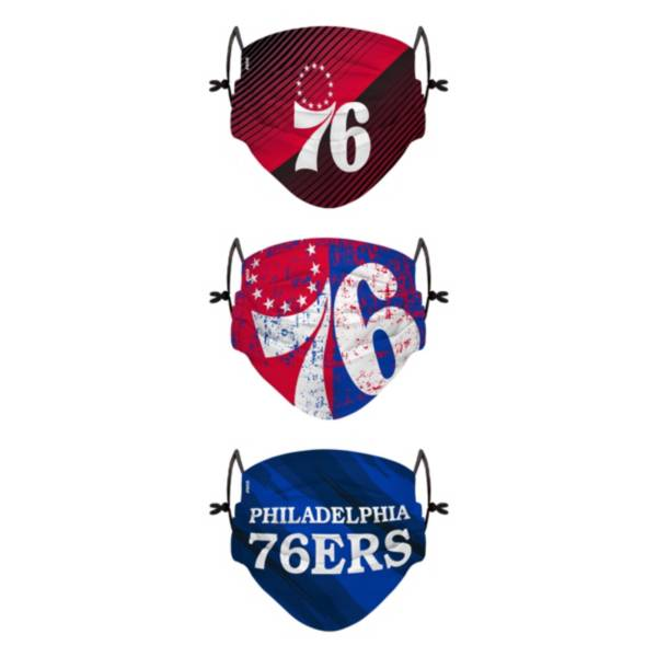 FOCO Youth Philadelphia 76ers 3-Pack Face Coverings product image