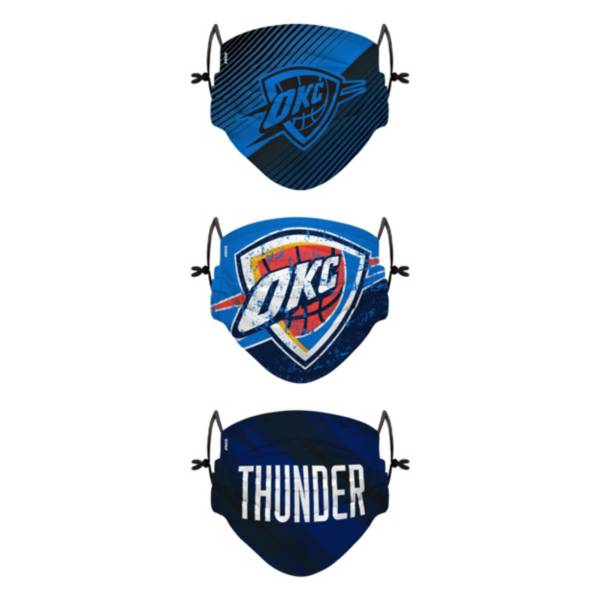 FOCO Youth Oklahoma City Thunder 3-Pack Face Coverings product image