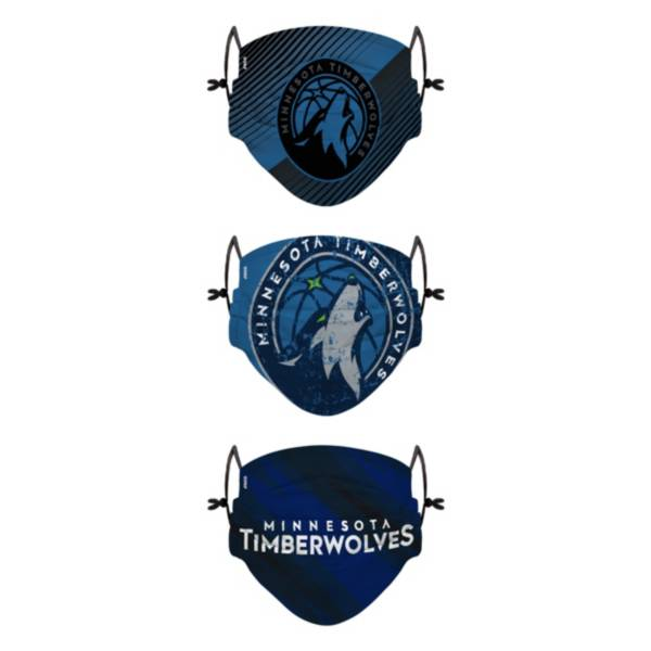 FOCO Youth Minnesota Timberwolves 3-Pack Face Coverings product image