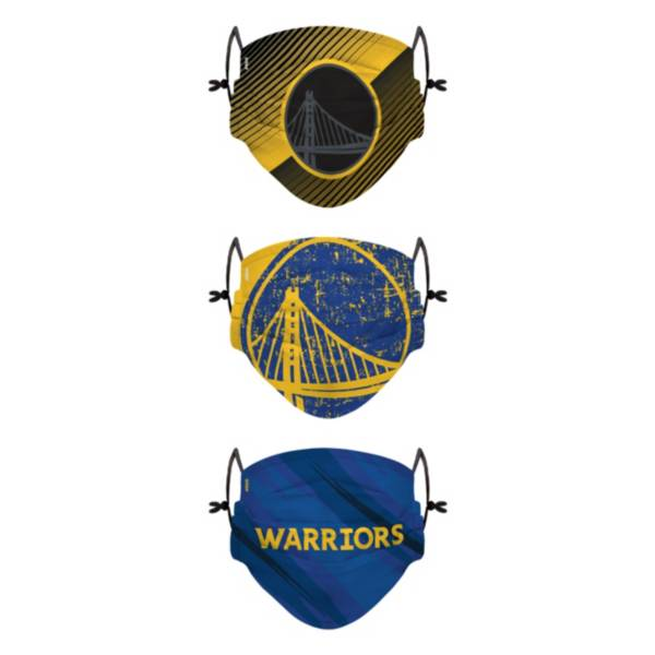 FOCO Youth Golden State Warriors 3-Pack Face Coverings product image