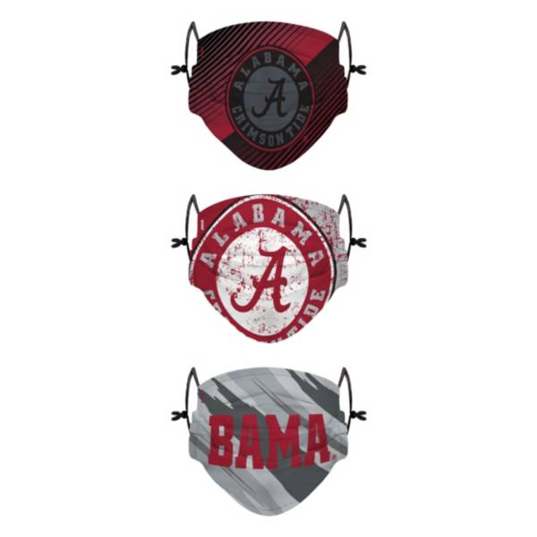 FOCO Youth Alabama Crimson Tide 3-Pack Face Coverings product image
