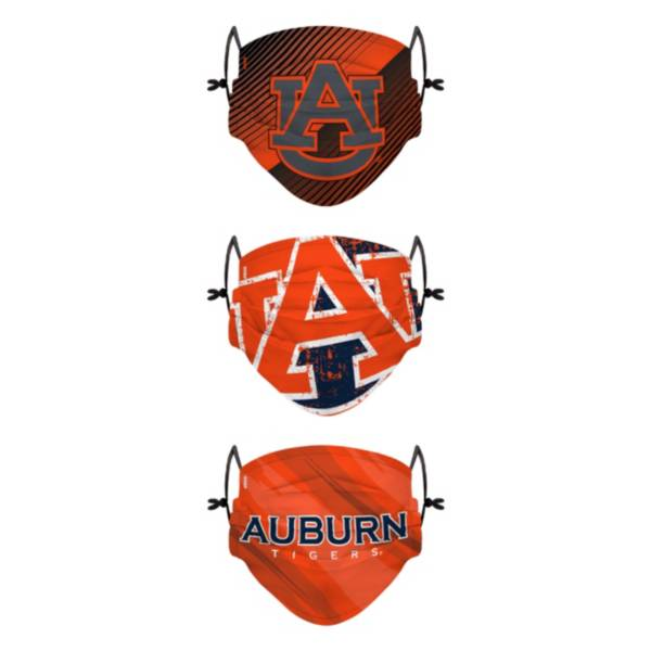 FOCO Youth Auburn Tigers 3-Pack Face Coverings product image