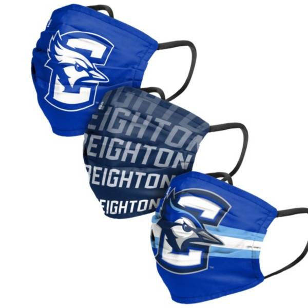 FOCO Adult Creighton Bluejays 3-Pack Face Coverings product image