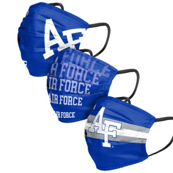 FOCO Adult Air Force Falcons 3-Pack Matchday Face Coverings product image