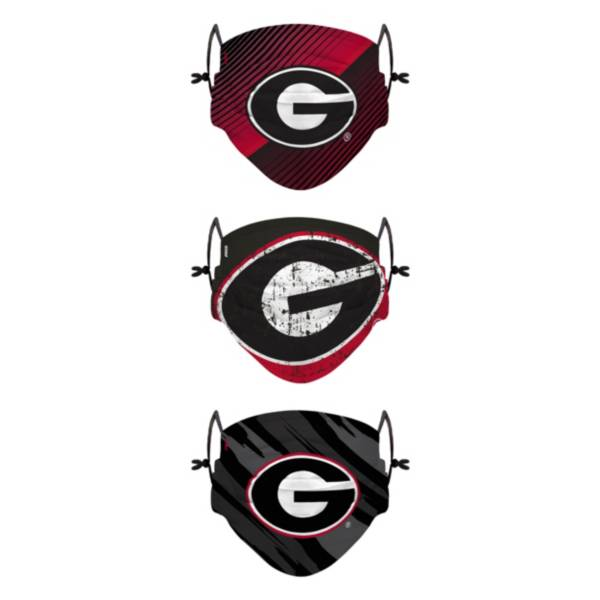 FOCO Youth Georgia Bulldogs 3-Pack Face Coverings product image