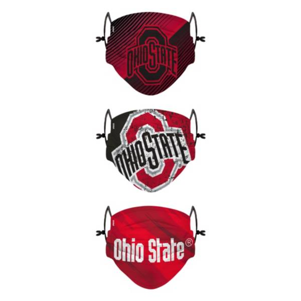 FOCO Youth Ohio State Buckeyes 3-Pack Face Coverings product image