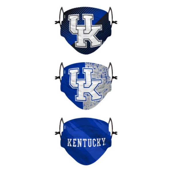 FOCO Youth Kentucky Wildcats 3-Pack Face Coverings product image