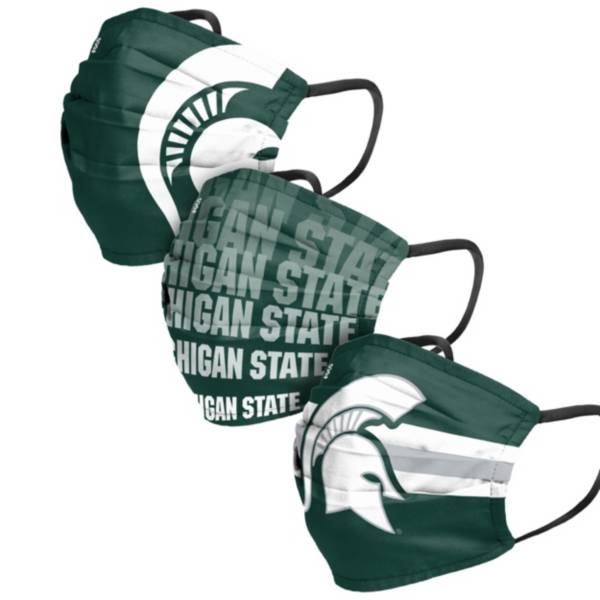 FOCO Adult Michigan State Spartans 3-Pack Matchday Face Coverings product image