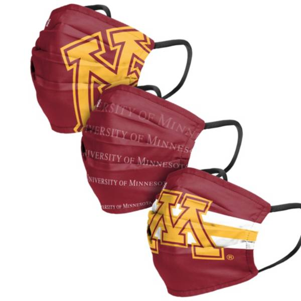 FOCO Adult Minnesota Golden Gophers 3-Pack Matchday Face Coverings product image